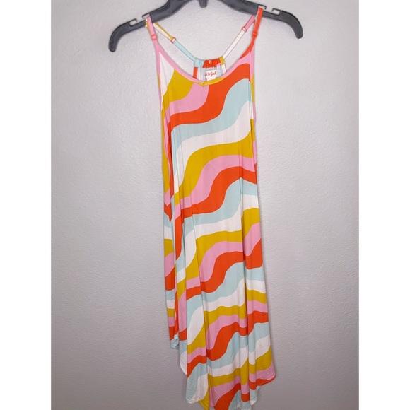 Girls size 7/8 Multi colored swirl dress